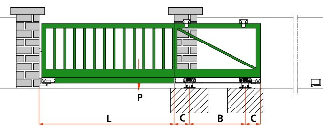 construire un portail coulissant