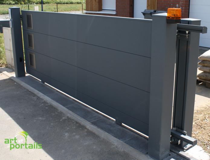 portail coulissant aluminium 4m
