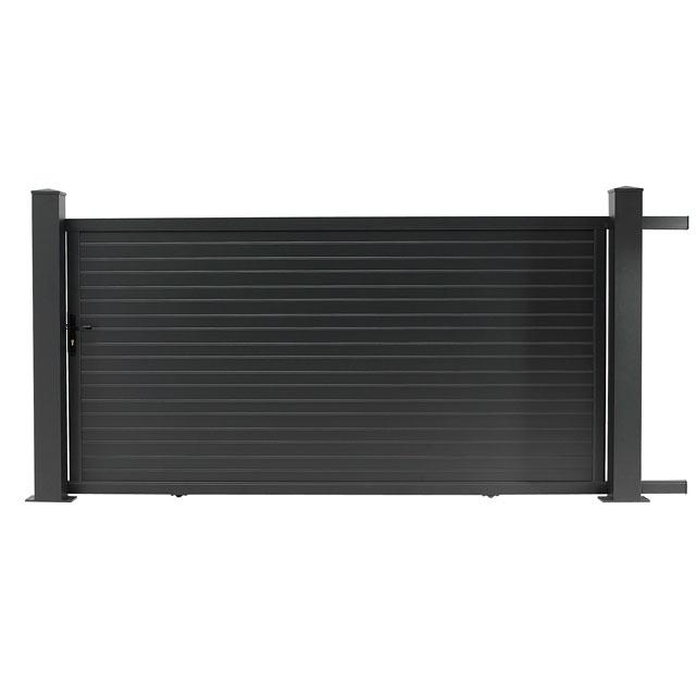 portail coulissant noir