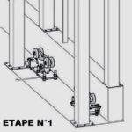 Rail portail coulissant suspendu