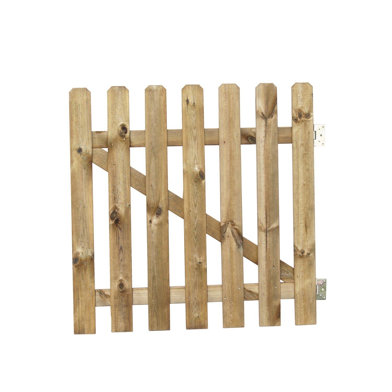portail en bois leroy merlin